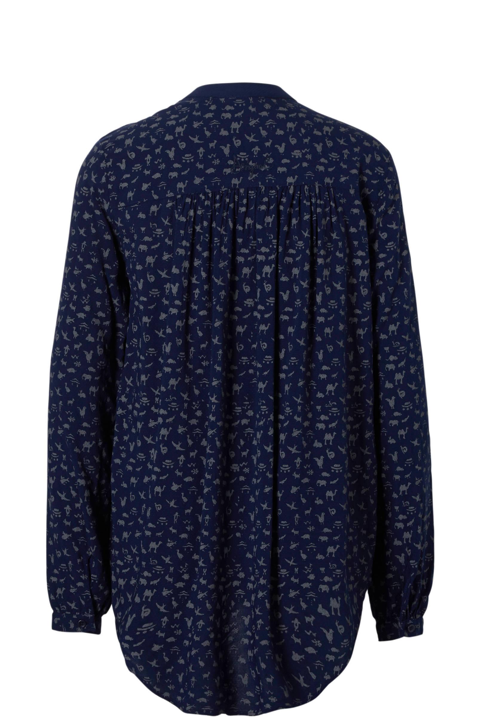 Desigual print blouse blouse Desigual Desigual print met met qOBwIxUT