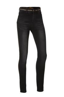Desigual high waisted skinny jeans met borduursels (dames)