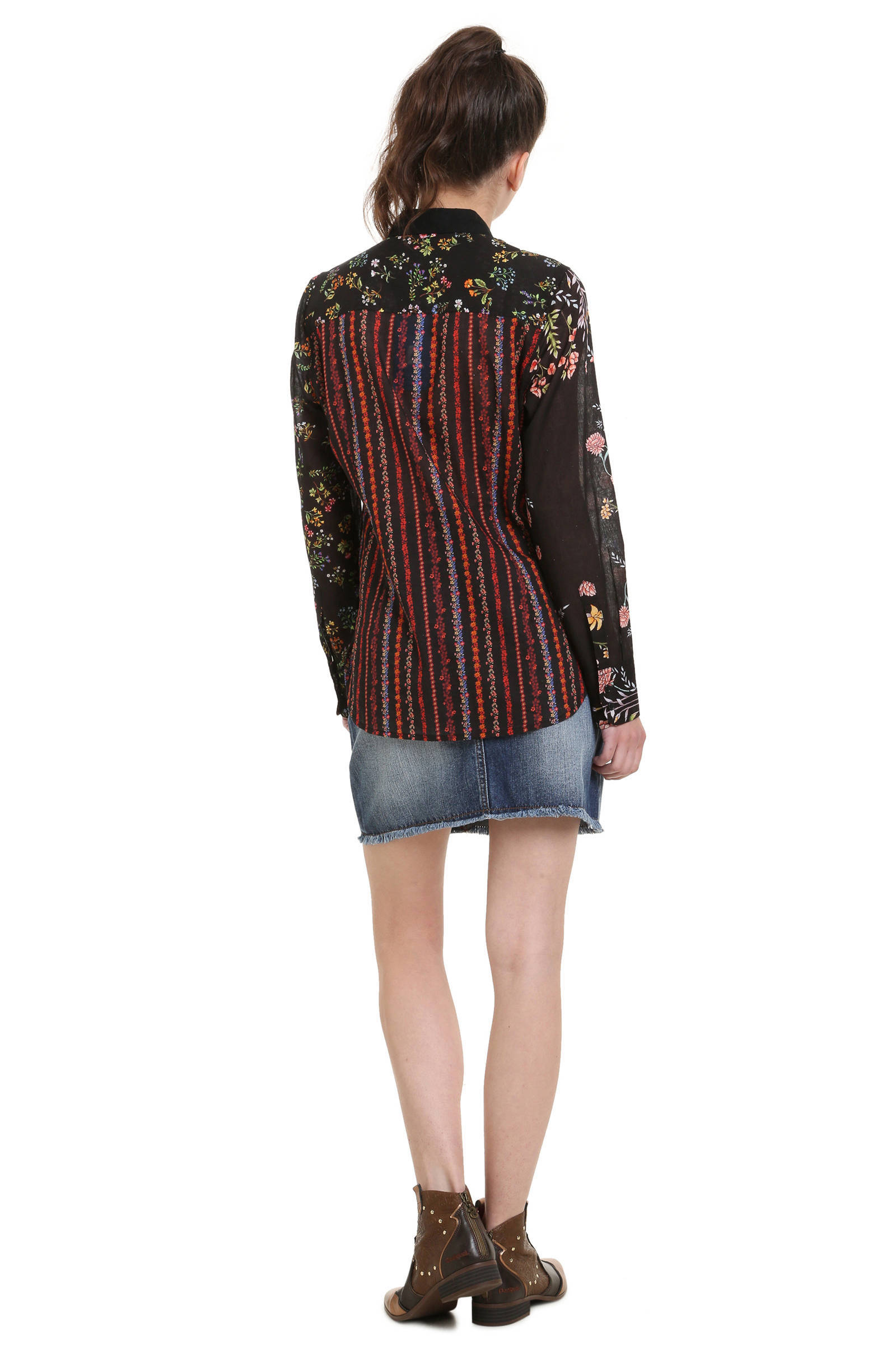 blouse Desigual Desigual met zwart bloemprint blouse an1zgE