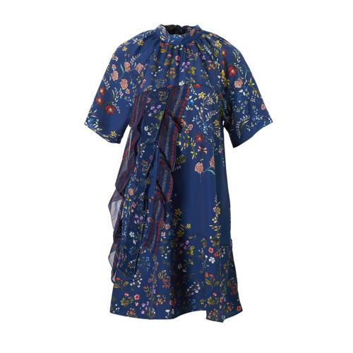 gebloemde A-lijn jurk