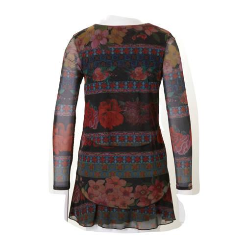 233391ffd4b2ac Desigual jurk met print zwart