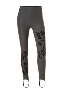 Desigual legging met print antraciet (dames)