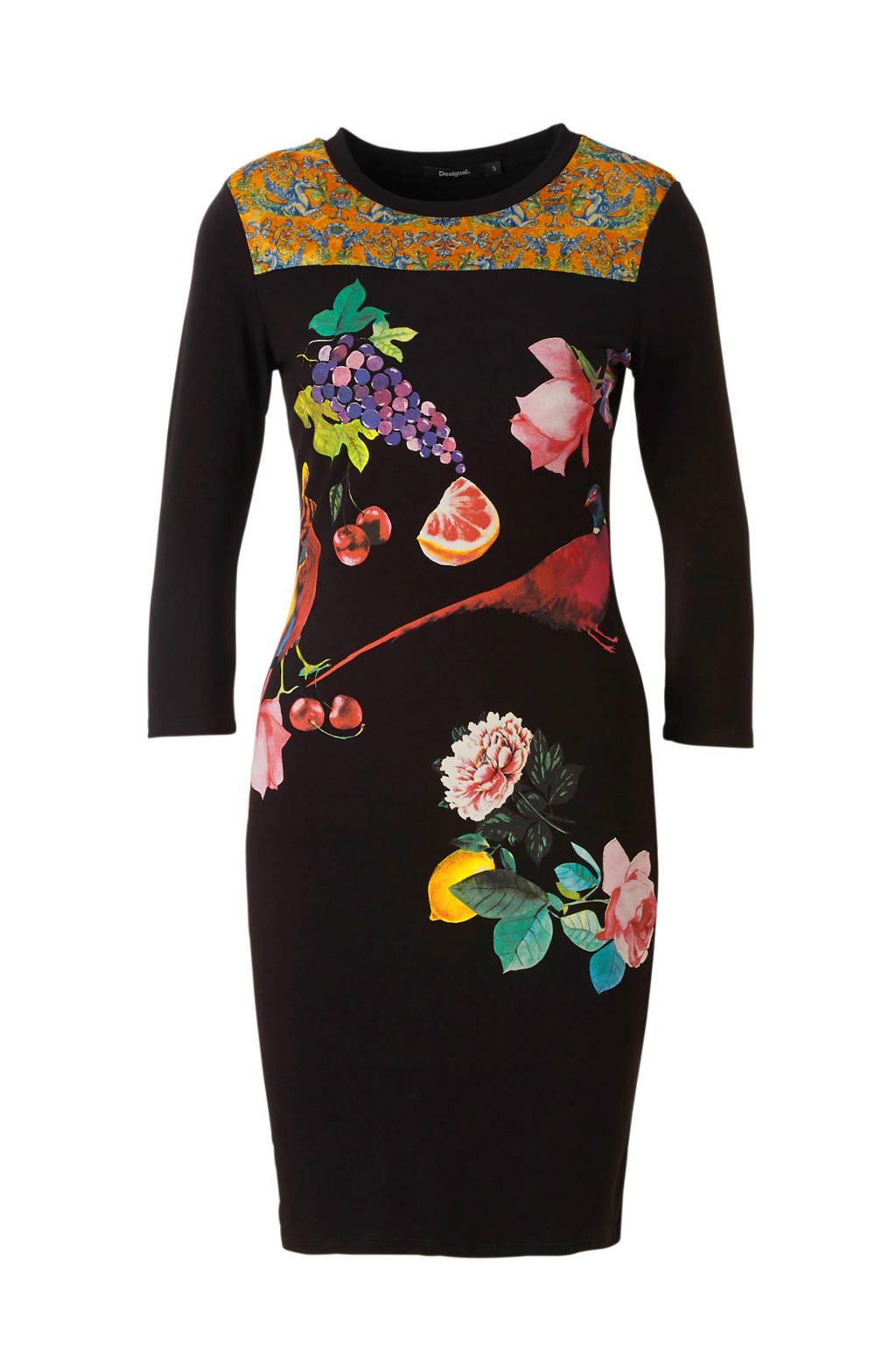 2fb9d5bb82d269 Desigual jurk met print zwart
