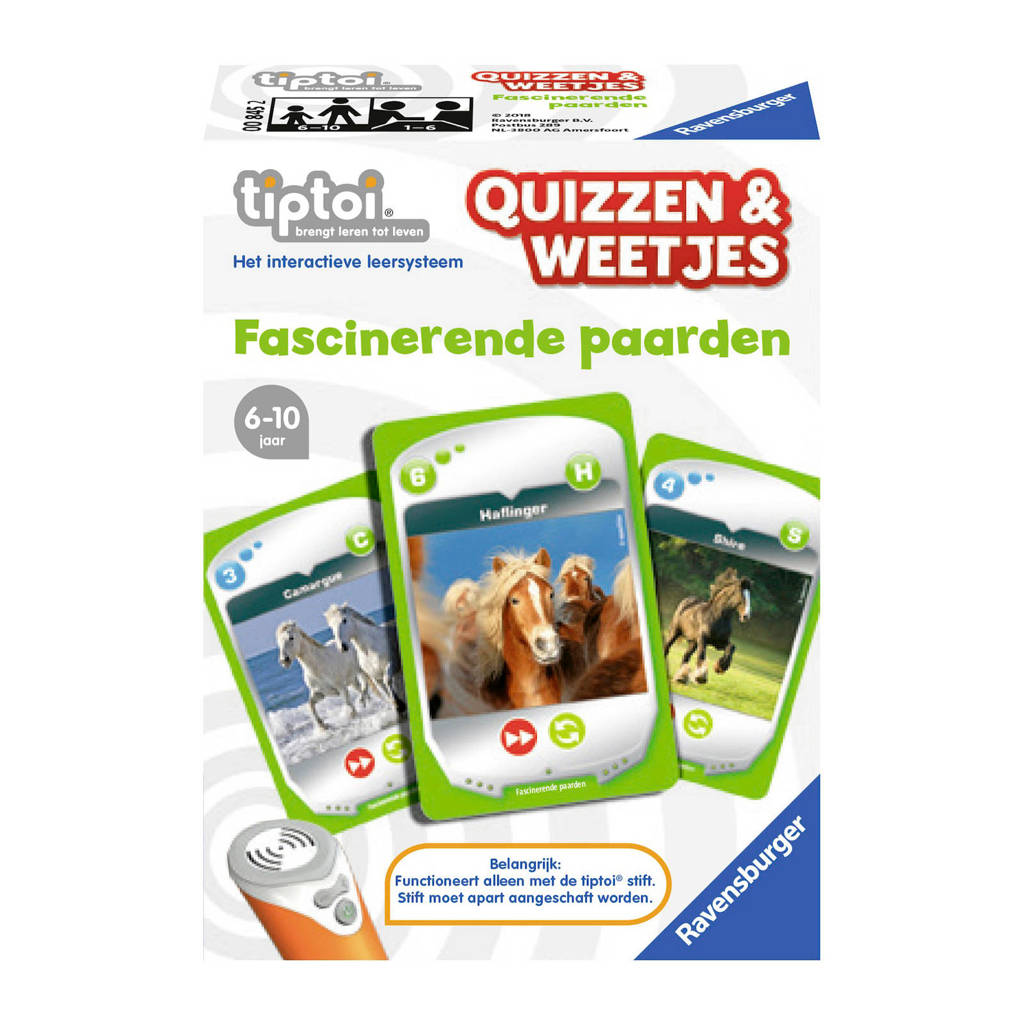 Ravensburger Tiptoi  Quizzen & Weetjes fascinerende paarden