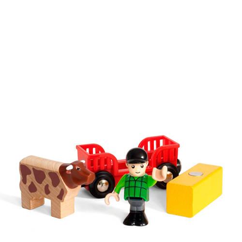 Brio houten boer met koe kopen