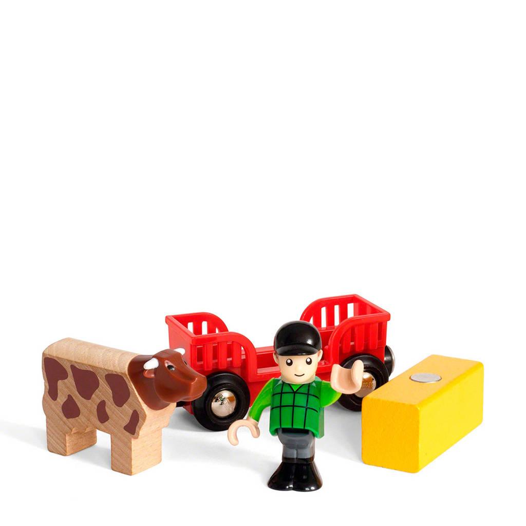 Brio houten boer met koe
