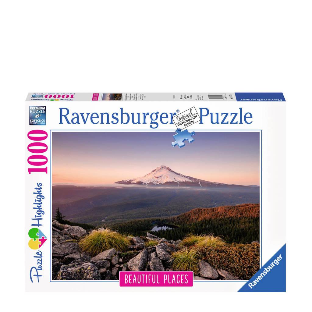 Ravensburger Stratovulkaan Mount Hood USA  legpuzzel 1000 stukjes