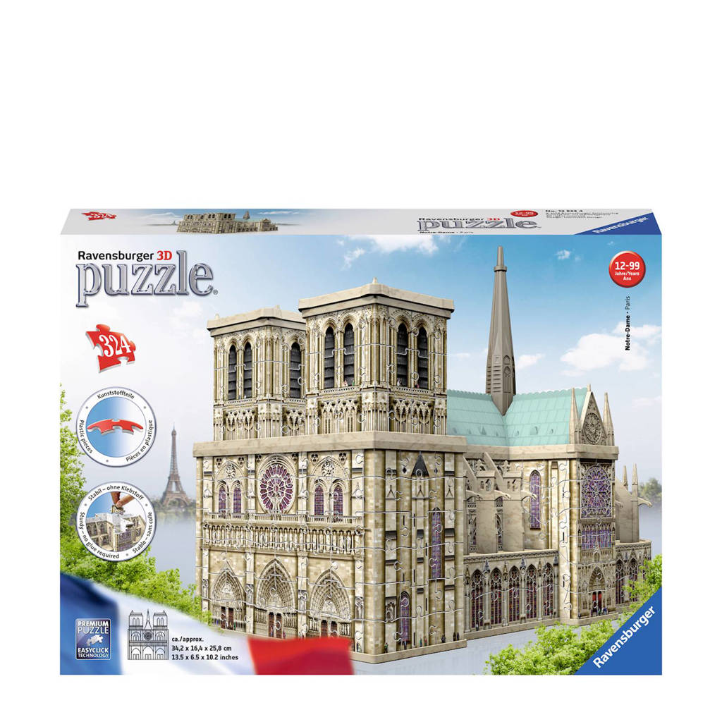 Ravensburger Notre Dame Parijs  legpuzzel 216 stukjes