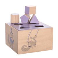 Bloomingville Mini vormenstoof paars, Paars
