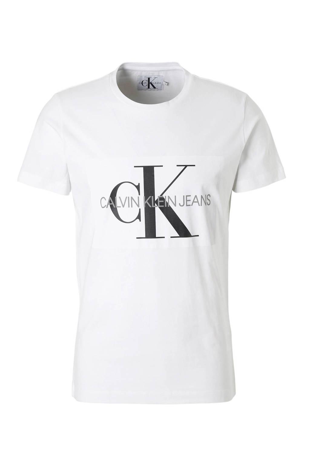 Calvin Klein Jeans T-shirt, Wit/zwart