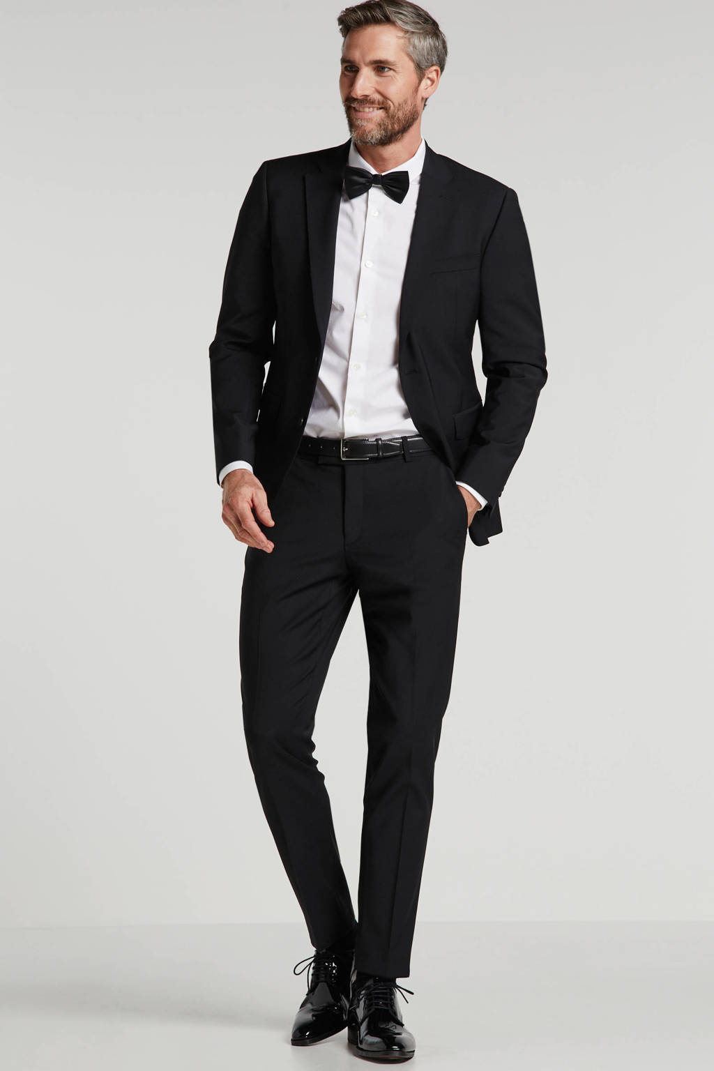 ESPRIT Men Collection slim fit colbert zwart, Zwart
