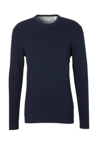 Men Casual sweater donkerblauw