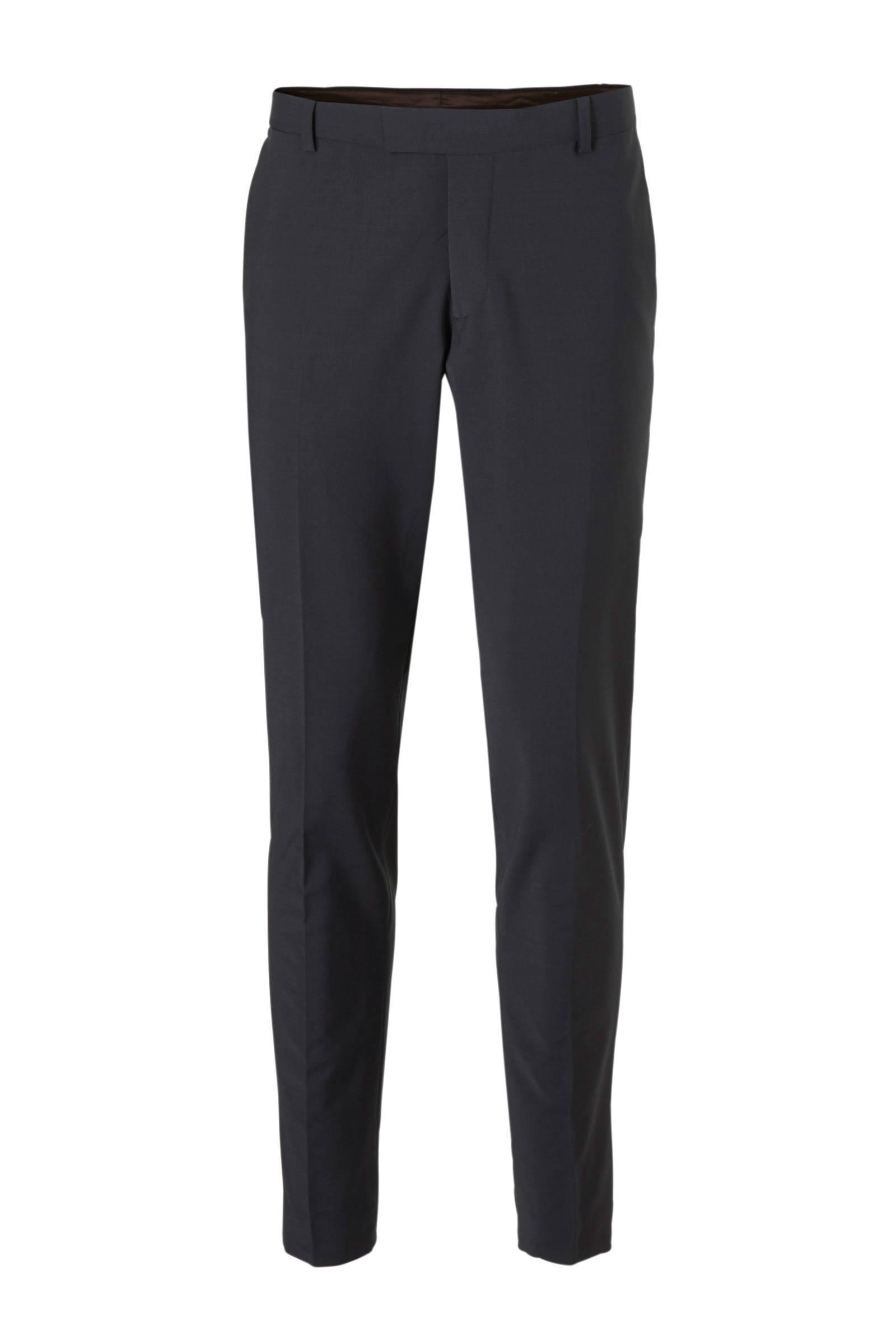 ESPRIT Men Collection slim fit pantalon marine | wehkamp