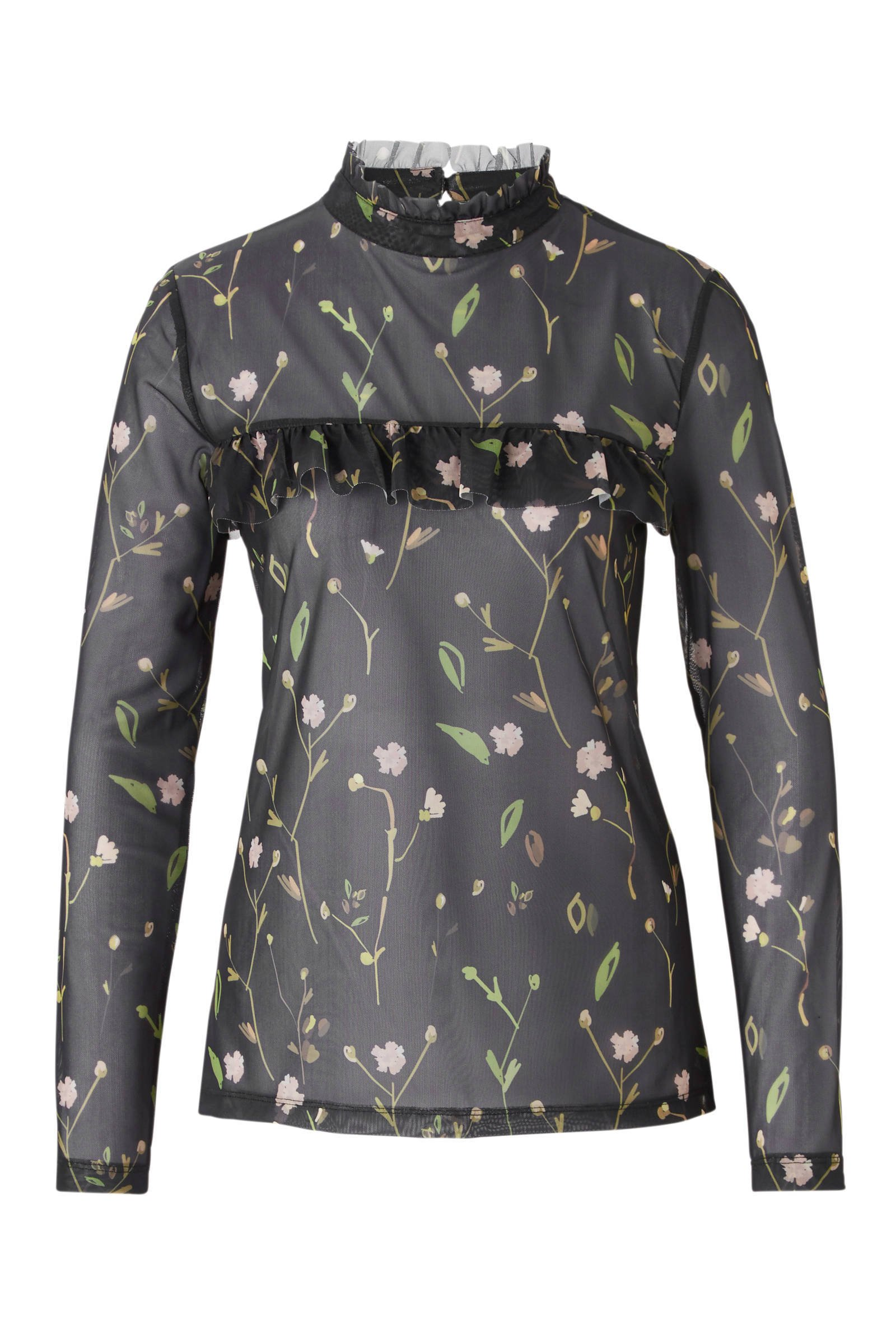 whkmp's own mesh top met bloemprint (dames)