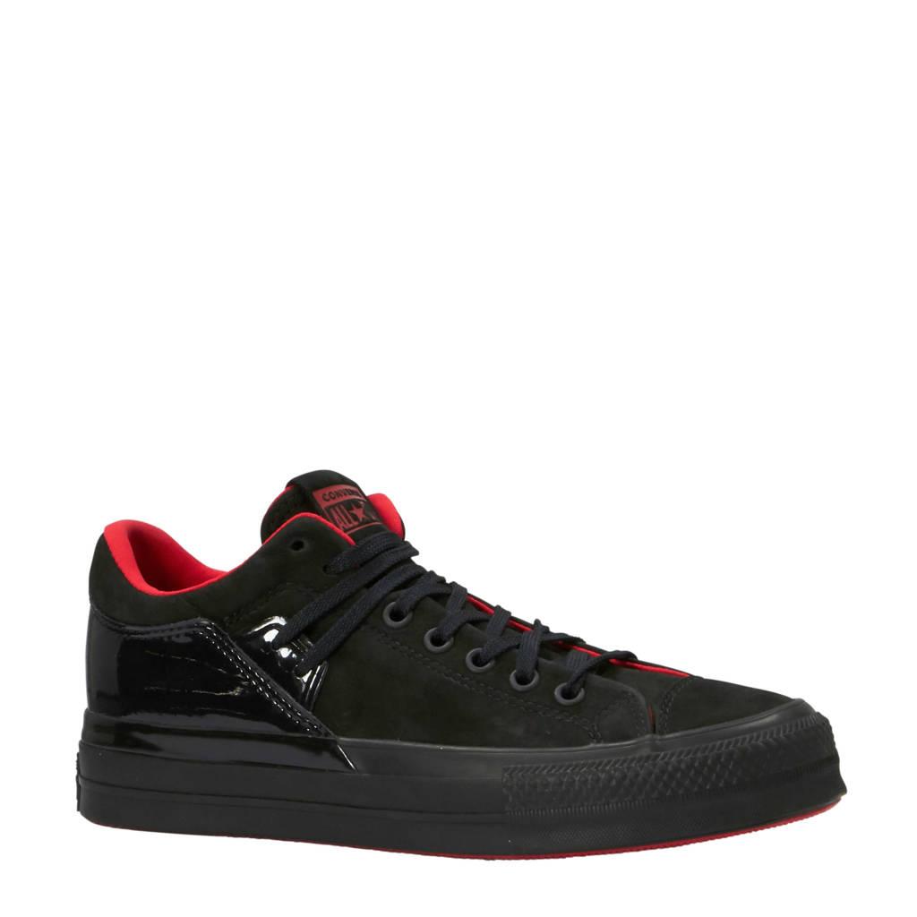 Converse  Chuck Taylor All Star sneakers suede zwart, Zwart/rood