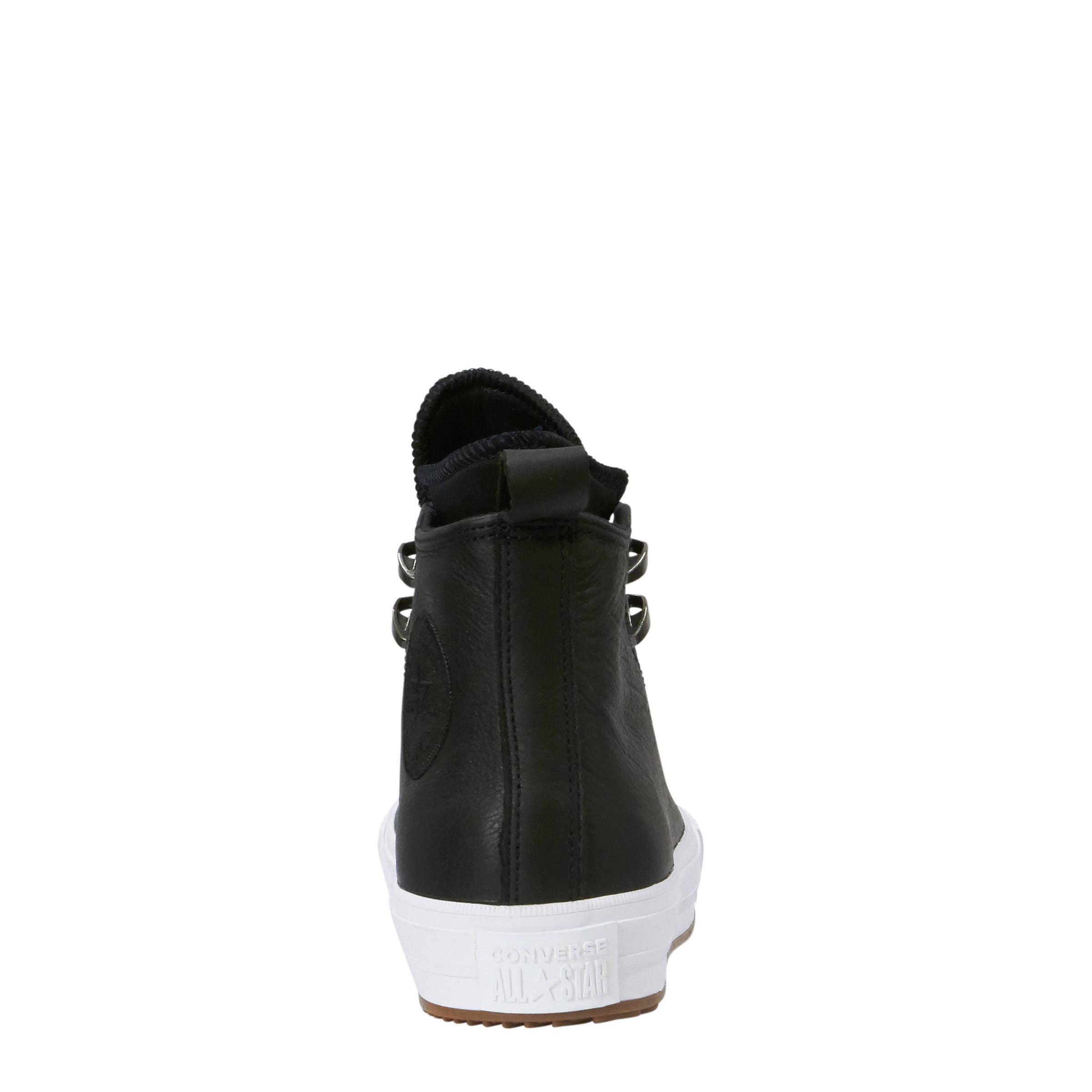 0d32a8f9237 Converse Chuck Taylor All Star WP boots leer zwart | wehkamp