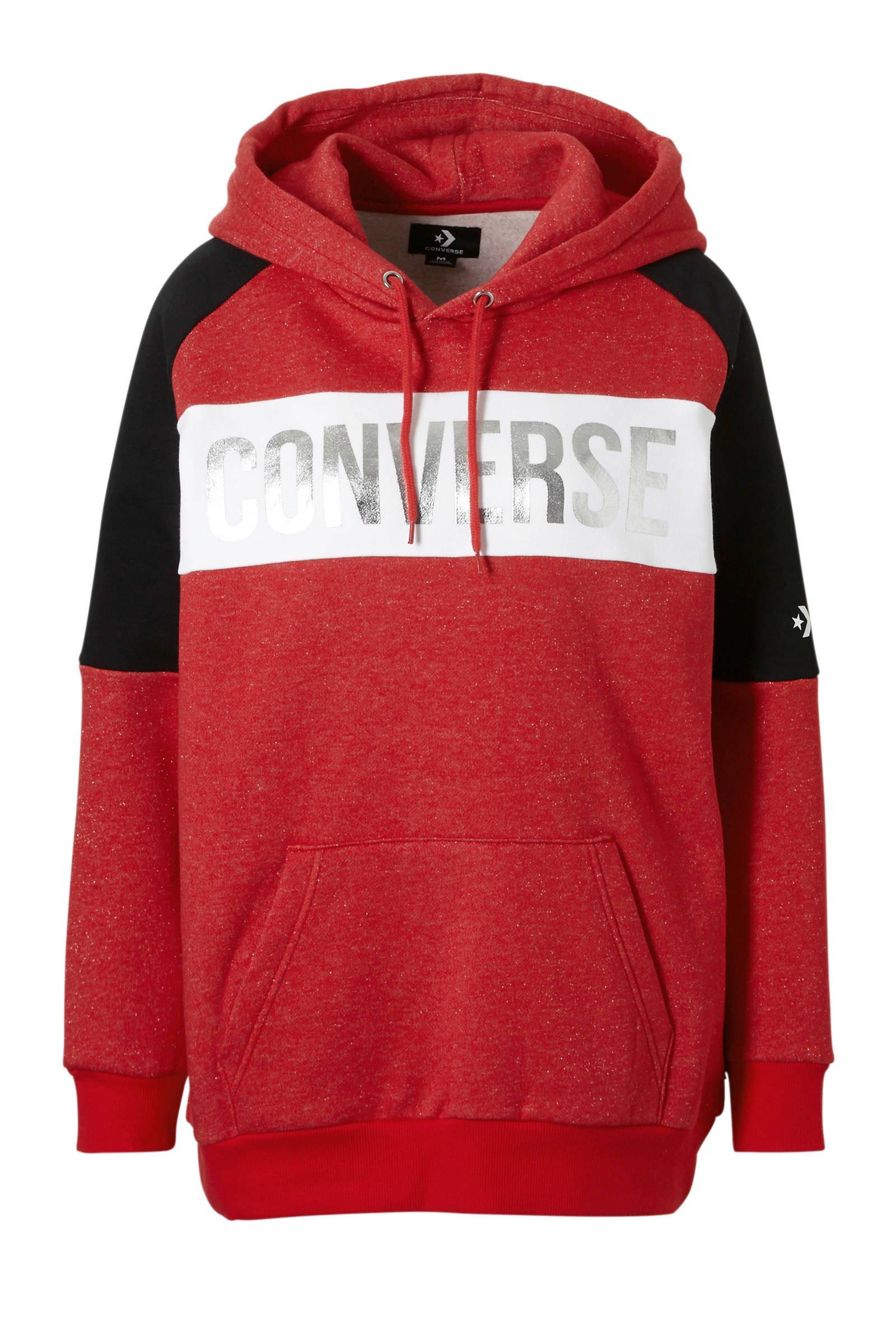 Converse hoodie rood | wehkamp