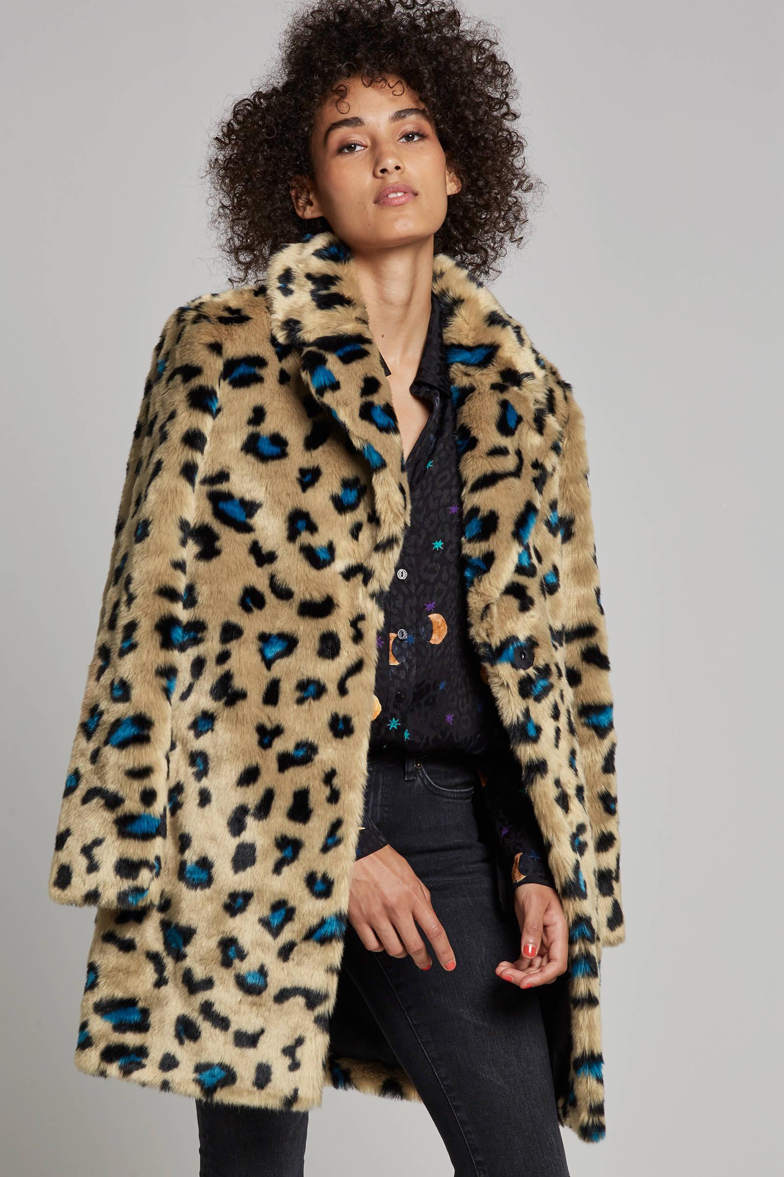 SPOOM Kiva imitatiebont jas met panterprint | wehkamp