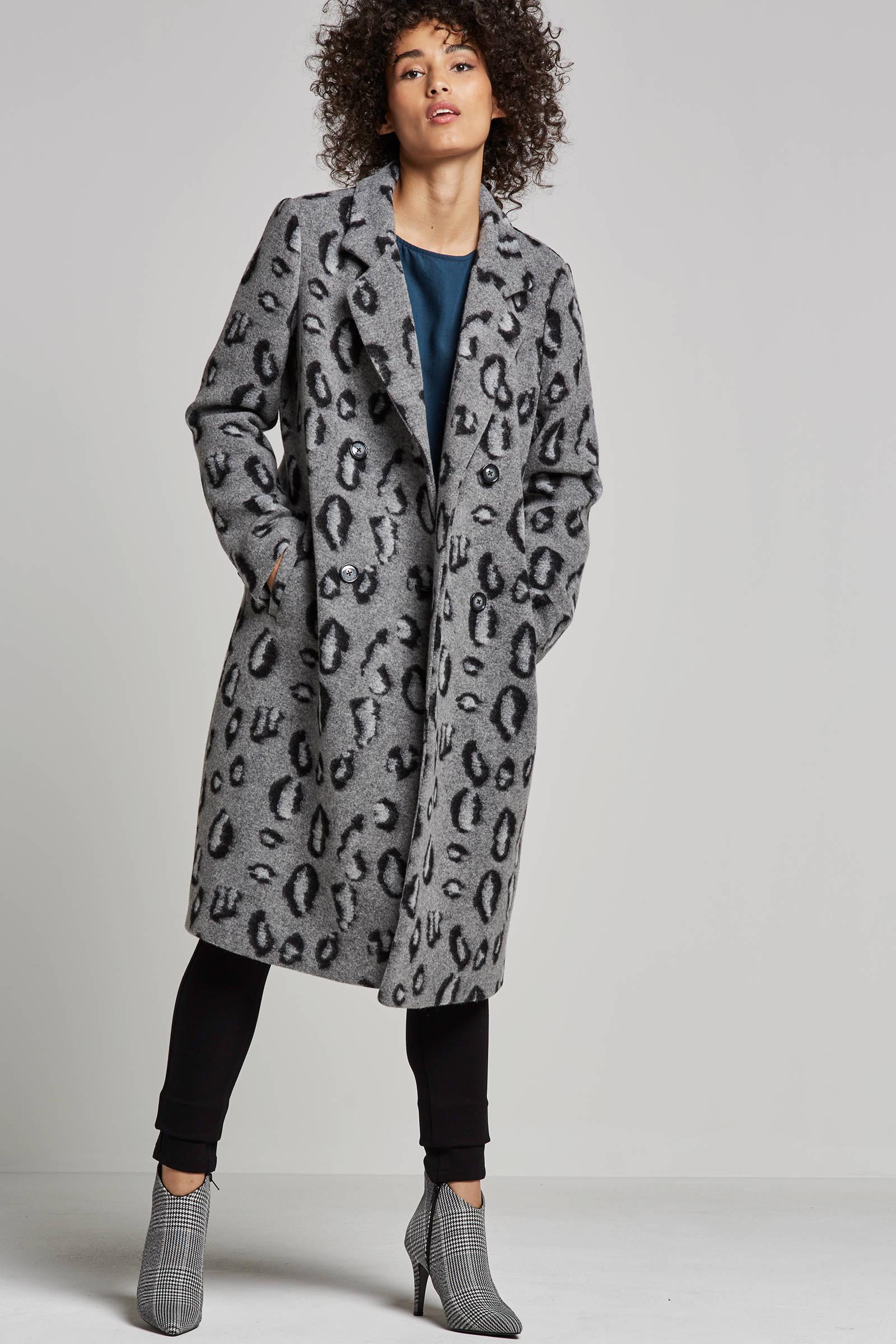 dames spoom mantel grijs