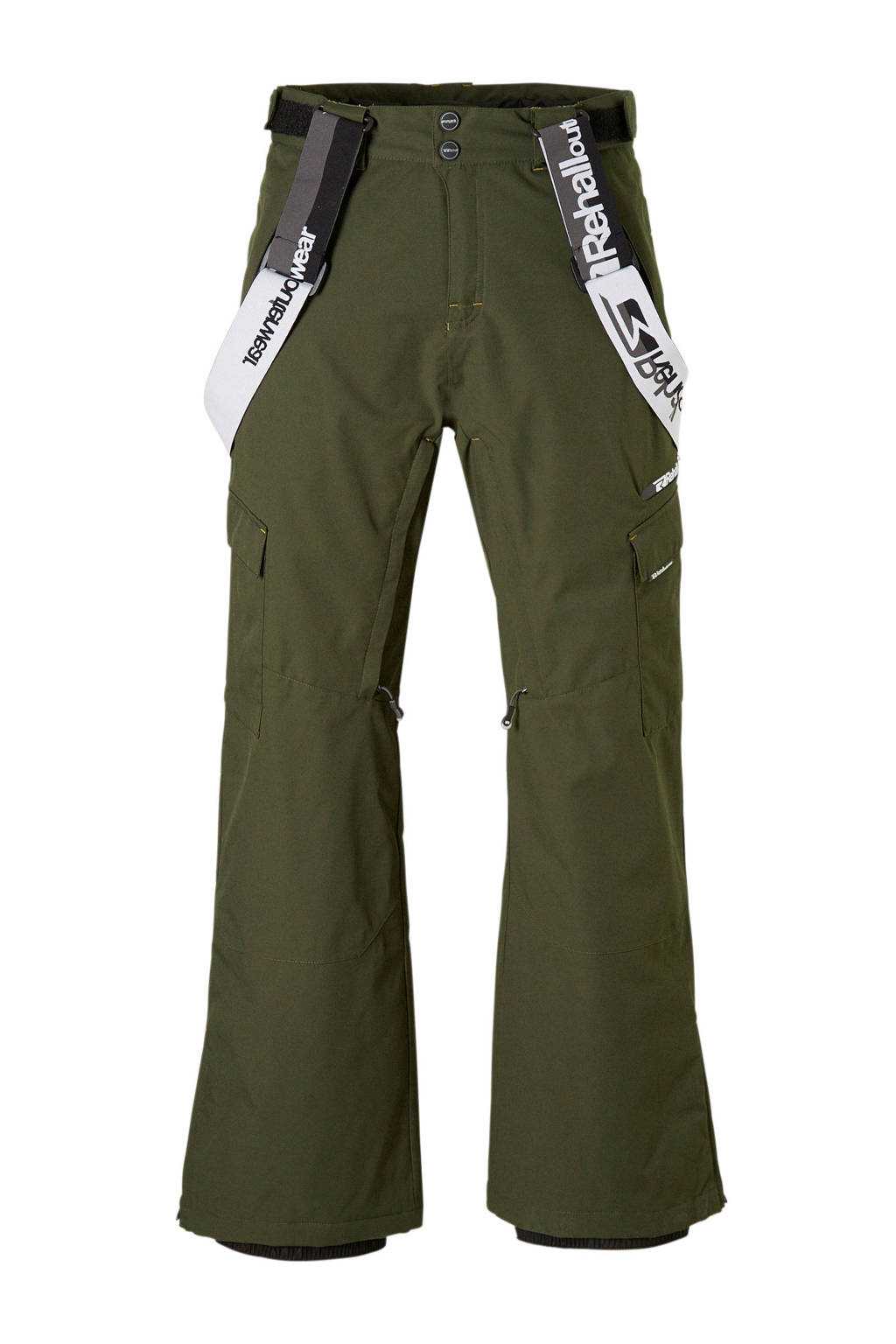 Rehall skibroek Charlie-R, Donkergroen/zwart