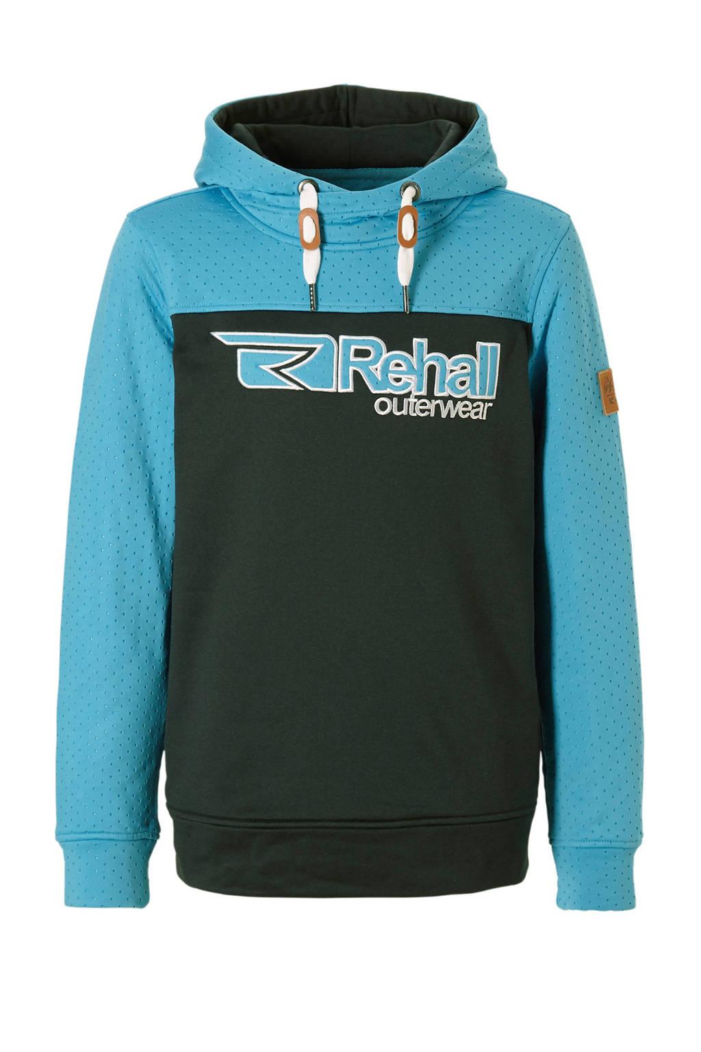 Rehall skisweater Adam-R blauw, Lichtblauw/zwart