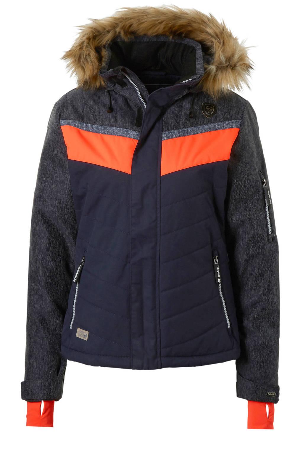 Rehall ski-jack Darcy-R, Donkerblauw/oranje