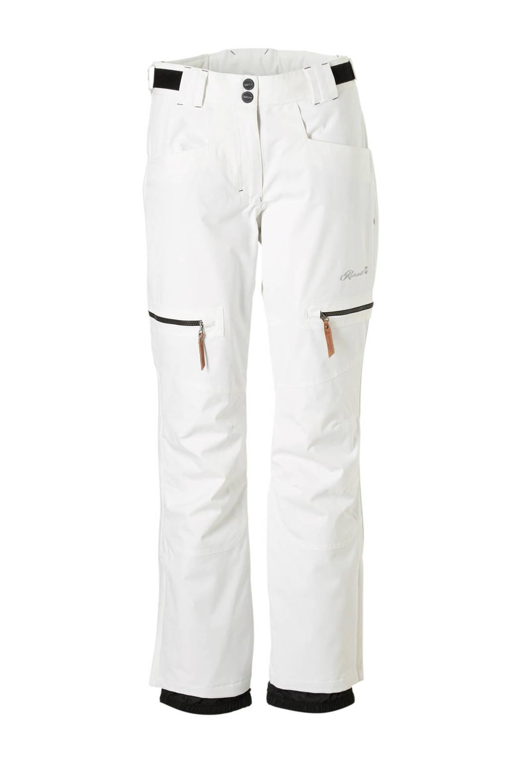 Rehall skibroek Harper-R wit, Wit/zwart