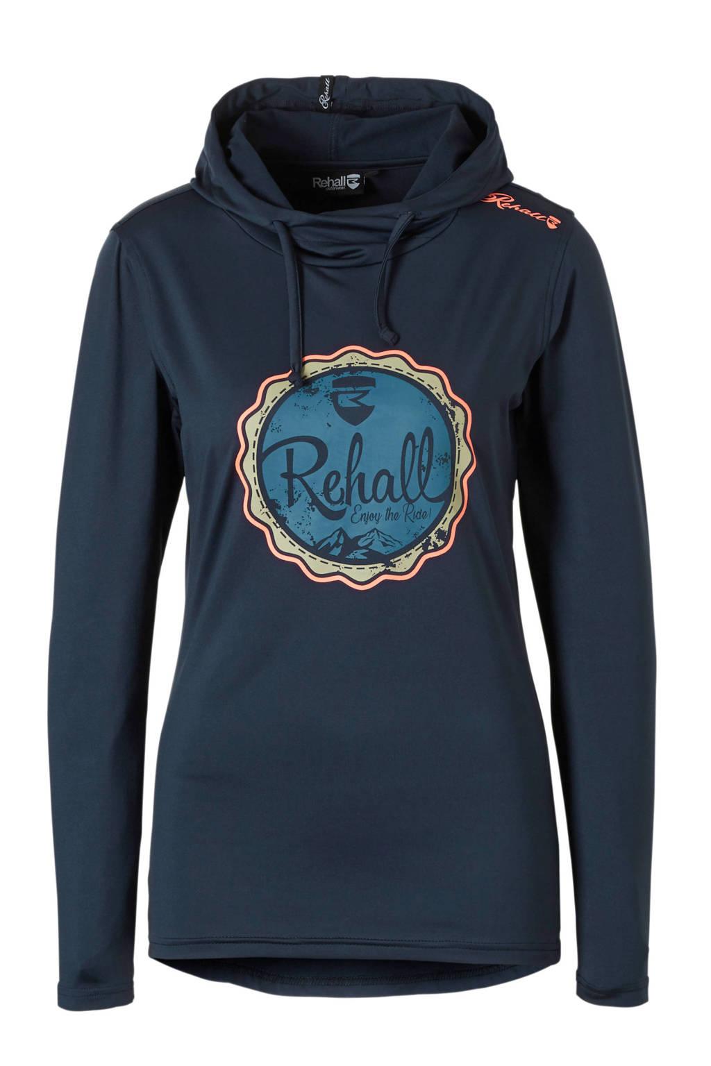 Rehall ski-sweater Evy-R, Donkerblauw/wit/zalm