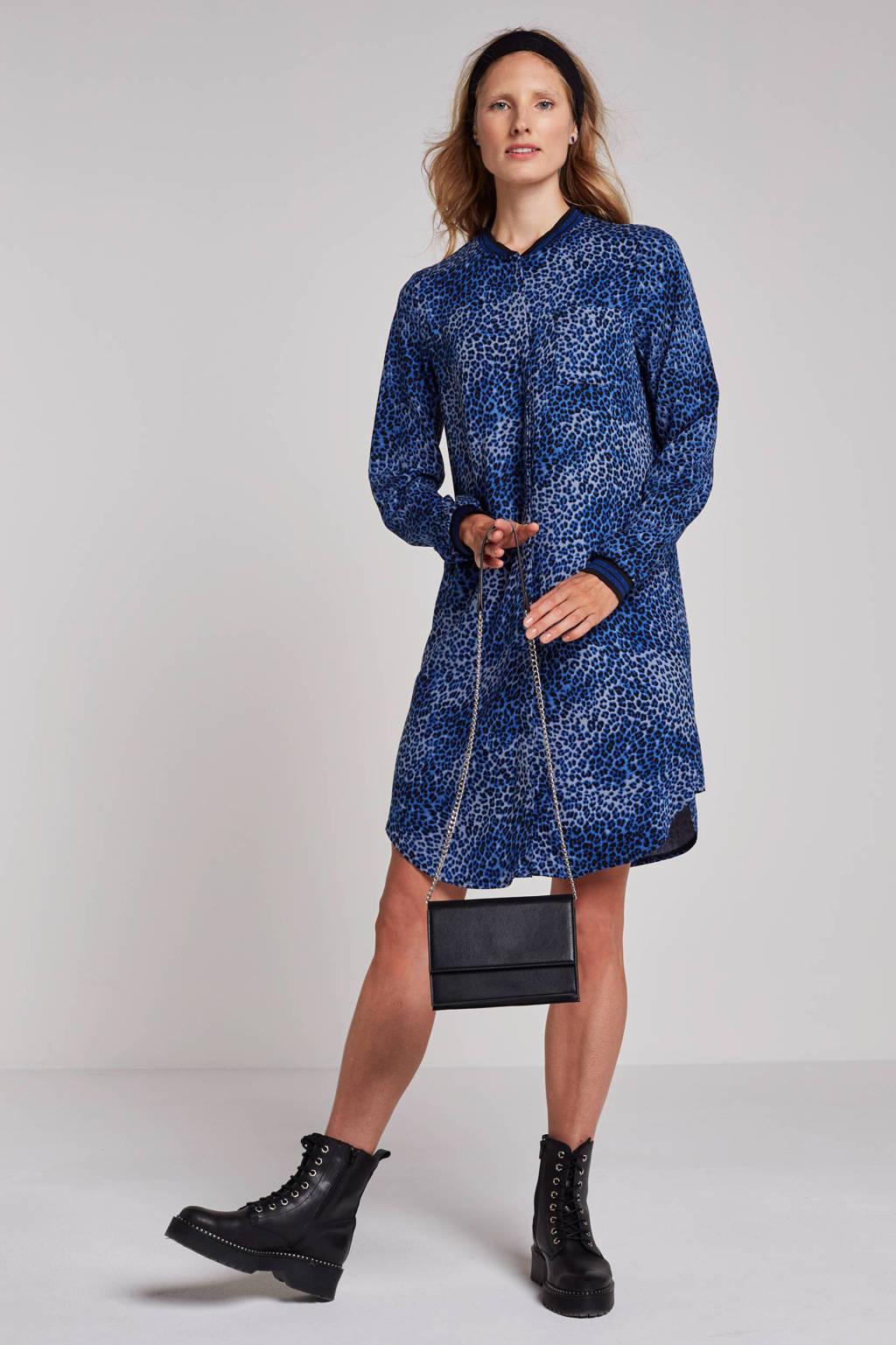 Geisha jurk, Blauw/zwart