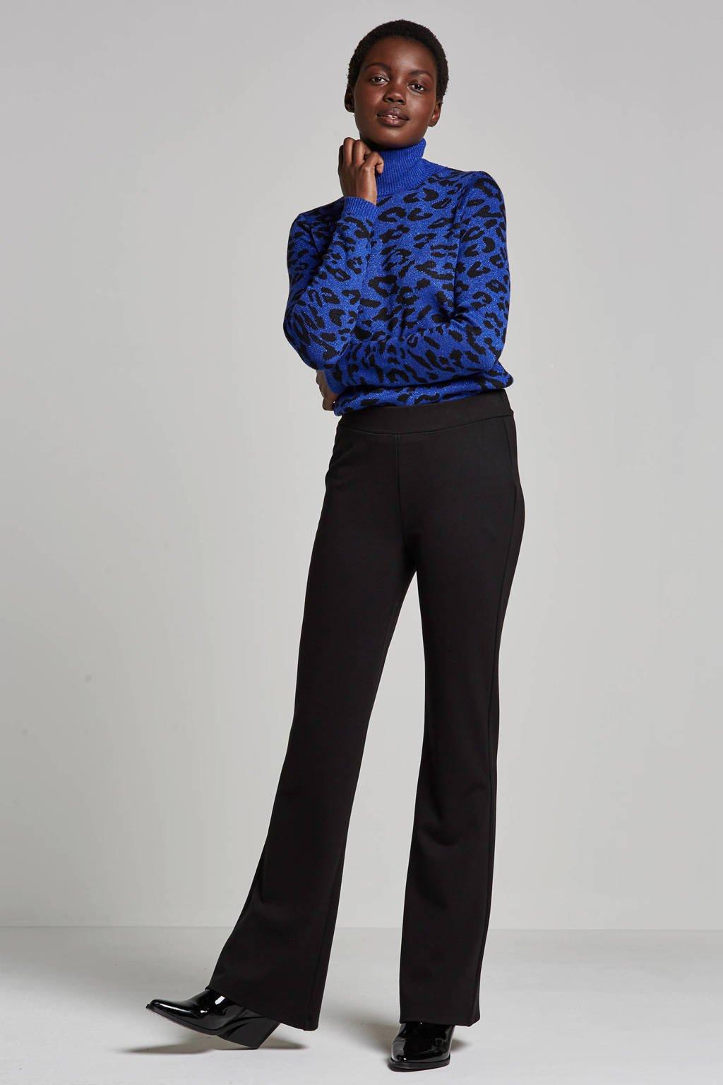 Geisha trui met lurex en wol, Blauw/zwart
