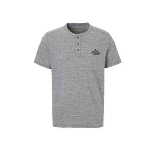 T-shirt met borduursel grijs