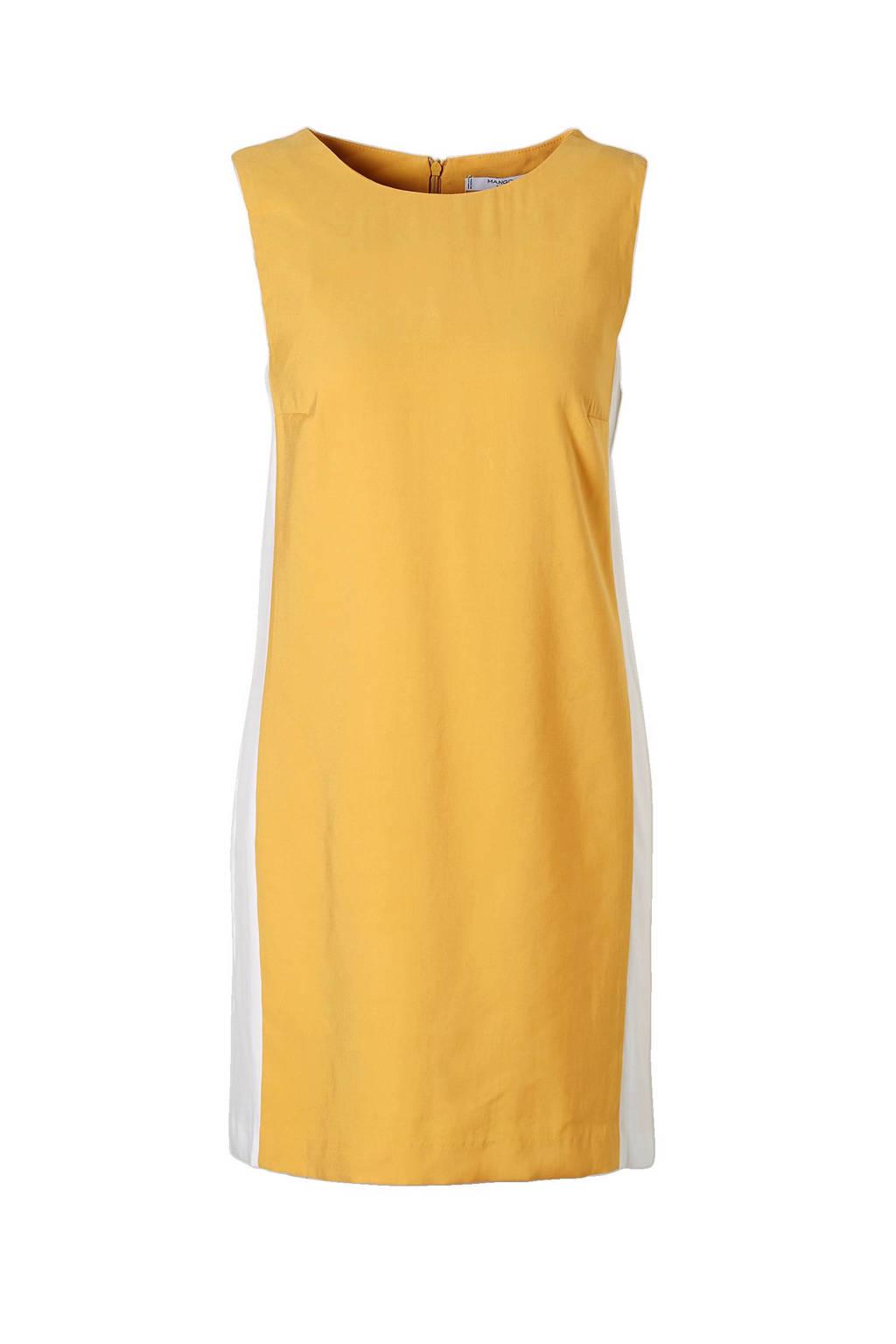 gloednieuw super schattig nog een kans mouwloze jurk met viscose geel