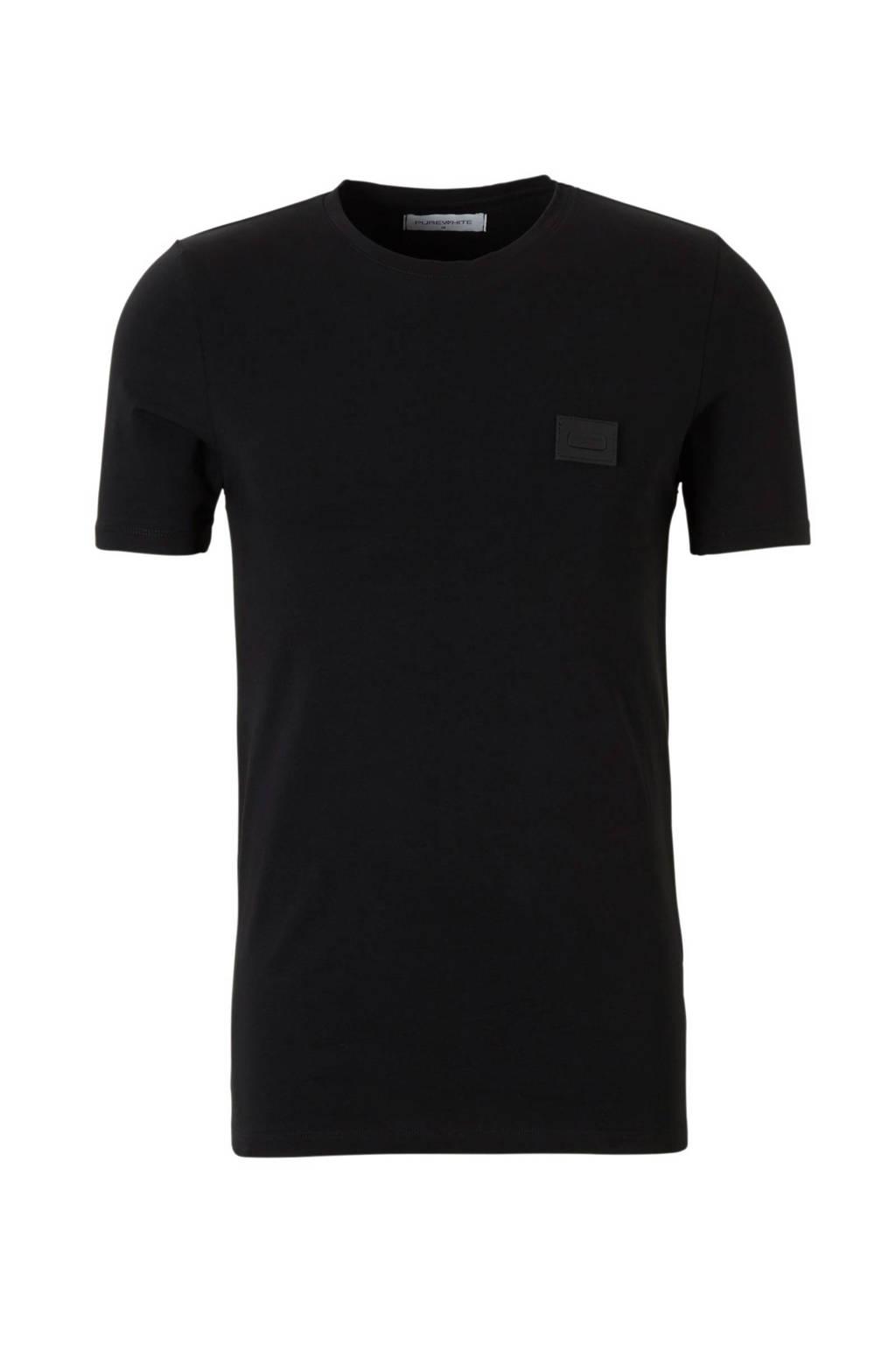 Purewhite Essential U neck, Zwart