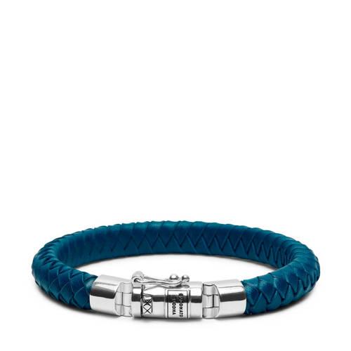 Buddha to Buddha armband Ben Small Leather Blue (F) 21 cm 180BU