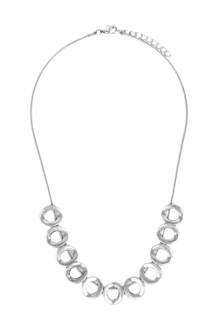 ketting met ringen zilverkleurig