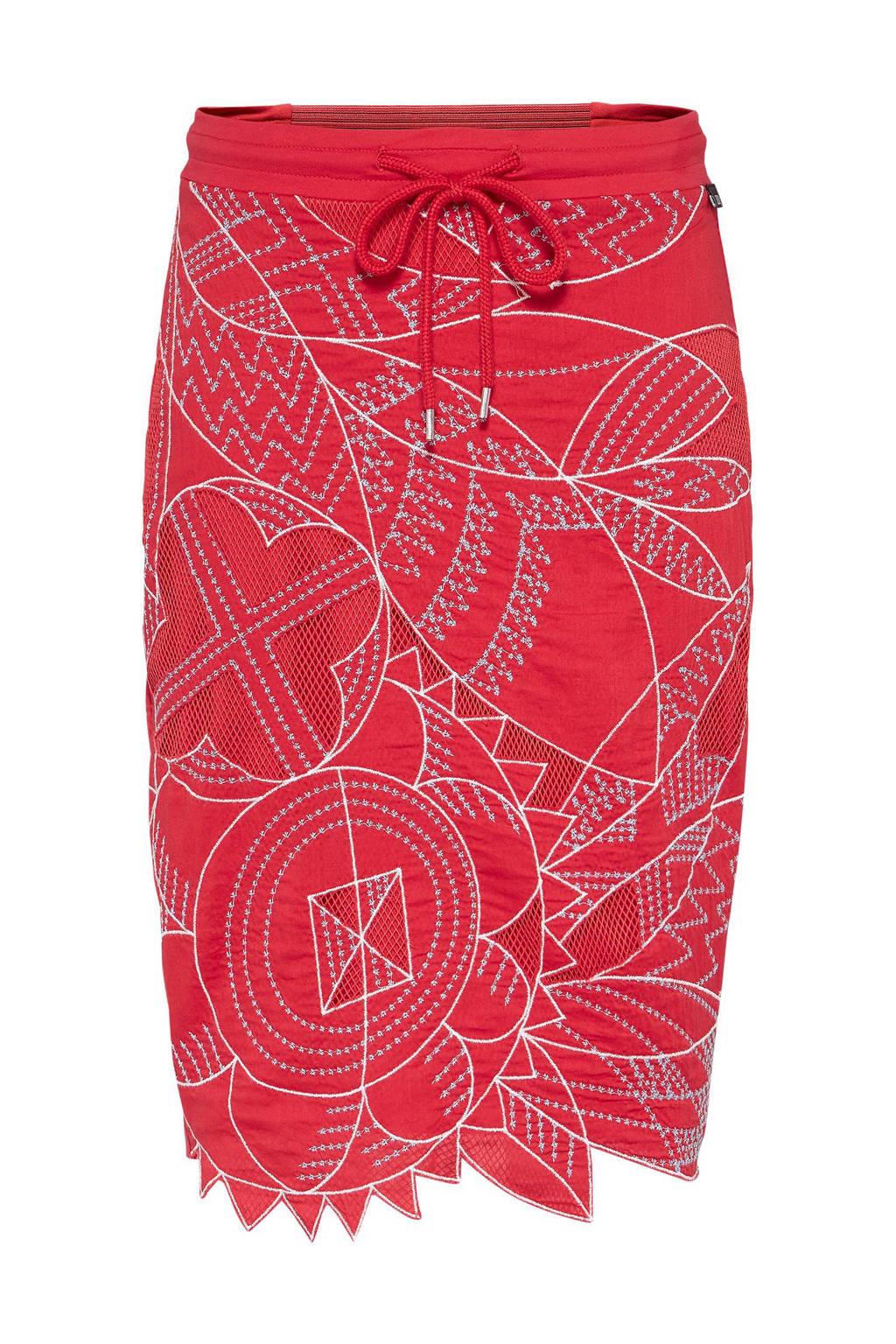 Didi rok met borduursels rood, Rood