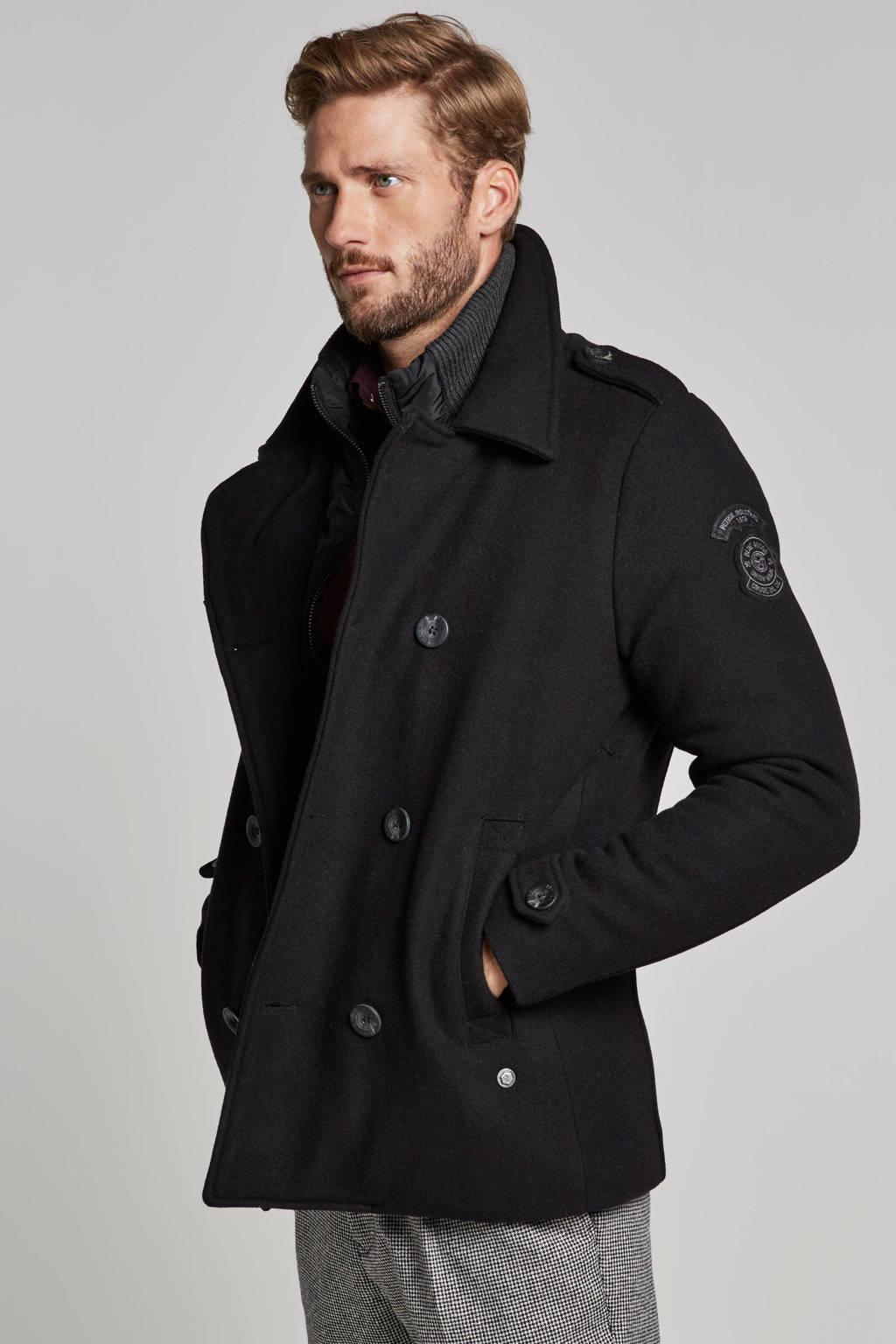 Petrol Industries jas met wol zwart, Zwart