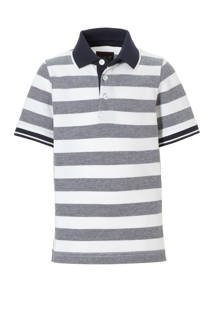 C&A Here & There gestreepte polo wit/zwart