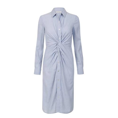 Promiss blousejurk met knoopdetail lichtblauw
