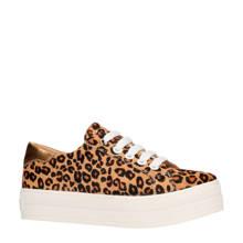leren sneakers met luipaardprint