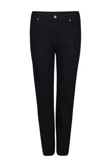 straight fit jeans met push-up zwart