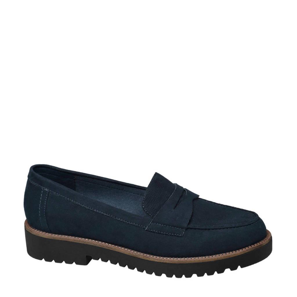 vanHaren Graceland loafers blauw, Blauw