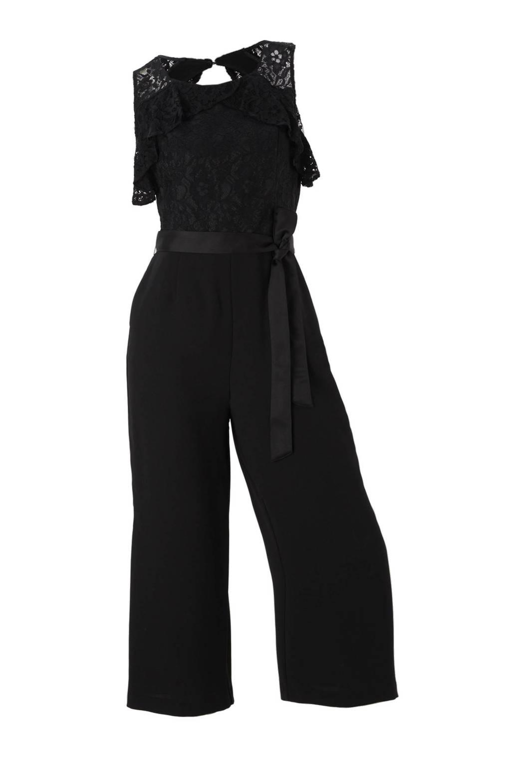 C&A Yessica jumpsuit met kant zwart, Zwart