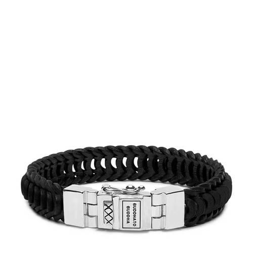Buddha to Buddha armband Lars Leather Black (E) 19 cm 187BL