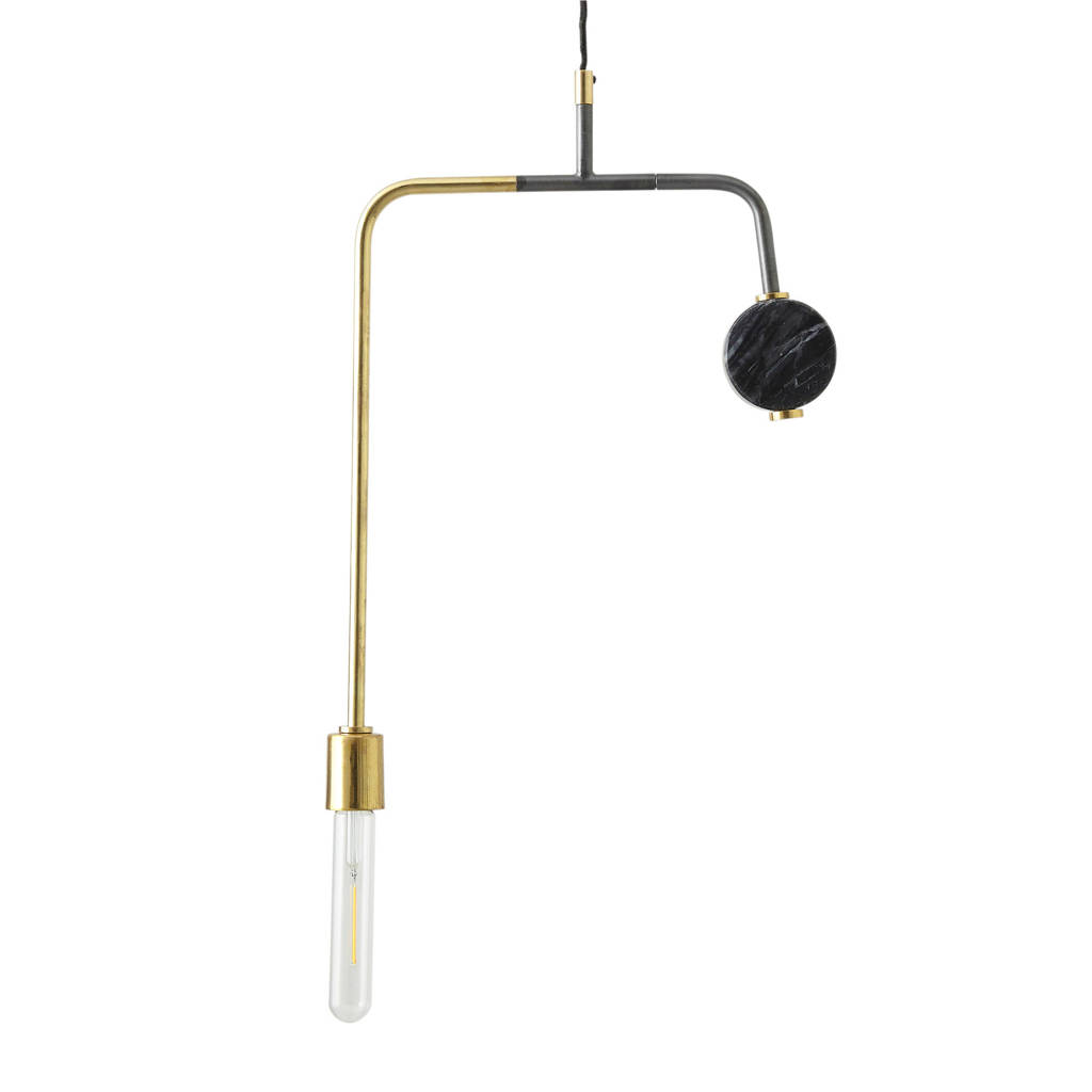 whkmp's own hanglamp, Goud/antraciet