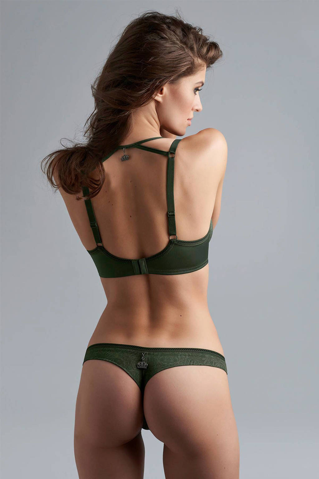 marlies dekkers string Crown Jewel, Donkergroen / zwart