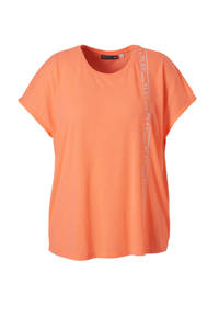 Only Play / Only Play Curvy sport T-shirt neon oranje