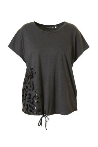 Curvy sport T-shirt grijs