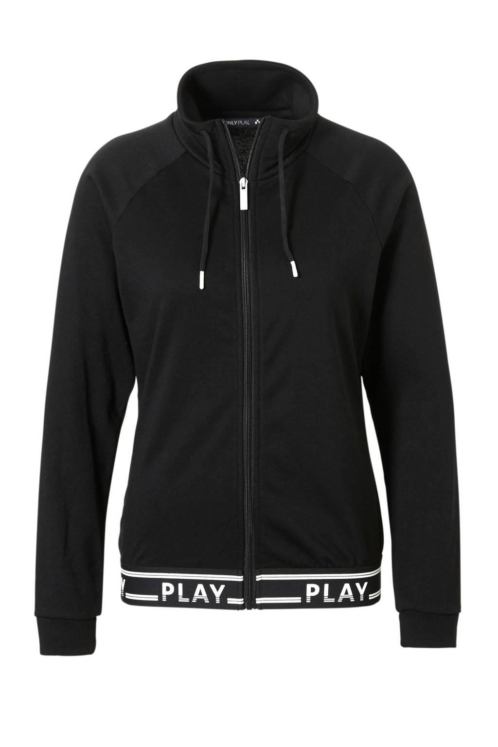 Only Play sportvest zwart, Zwart