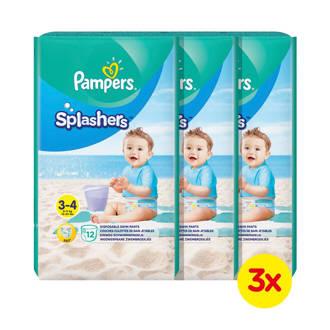 Splashers Maat 3-4 (6-11 kg) 36 wegwerpbare zwemluiers